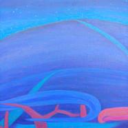 003, 차명주, 별 밤, 37.9 x 45.5 cm, oil on ca