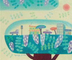 아카시 마을.60×50.oil on canvas.2009