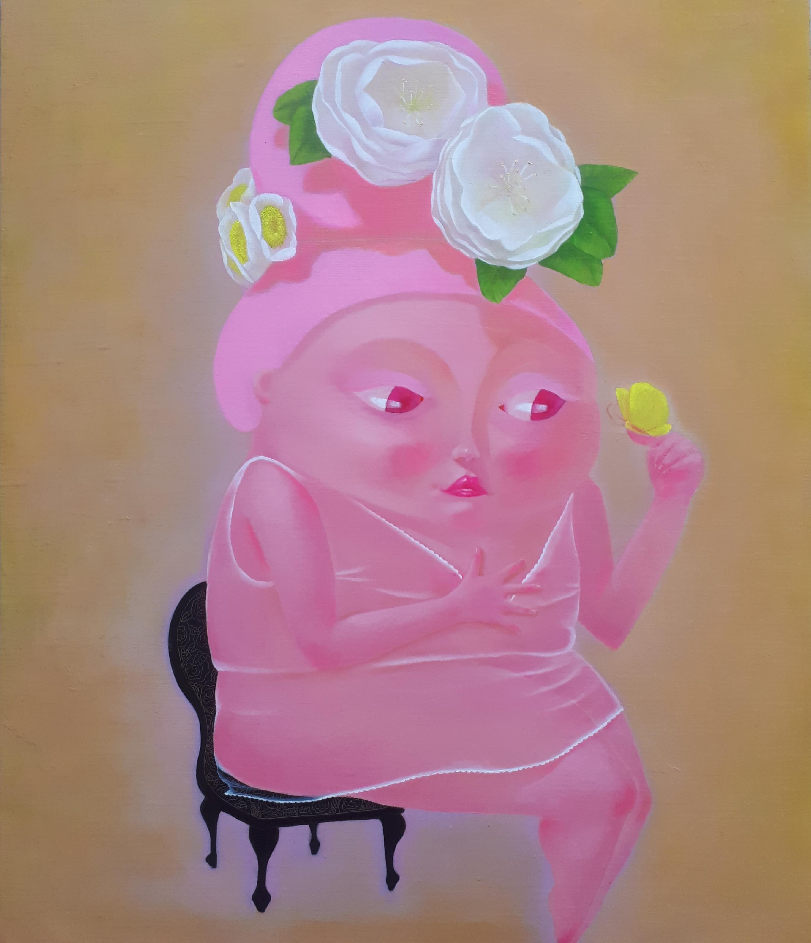 문선미 1, 그녀의 정원-내게로 오다, 45x53cm, oil on ca