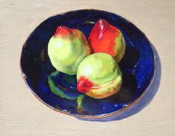 002, 세 개의 천도 복숭아, 30 x 24 cm, oil on can