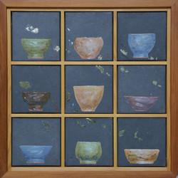 송승호, 차나 한잔 하시게9, 38 x 38 cm, 장지에 혼합재료, 2021, 90만원