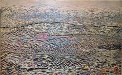 014, 김재신, 바다, 98 x 61 cm (30호), 나무판 위에 색