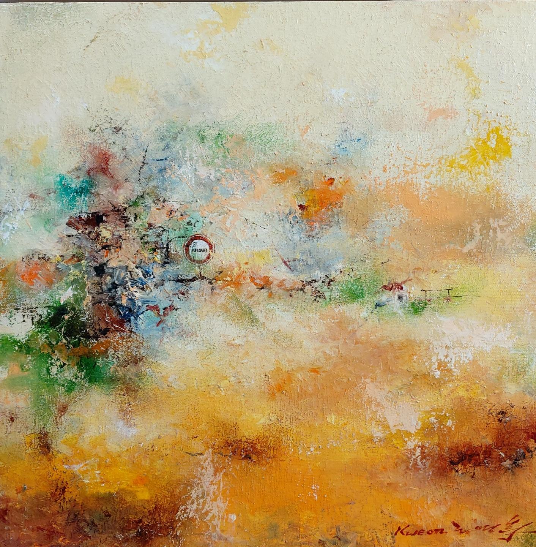 권영범1, 어떤 여행(Un Voyage), 35 x 35 cm, oil