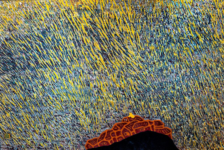 김재신, 동피랑이야기, 122x82cm, mixed material, 2