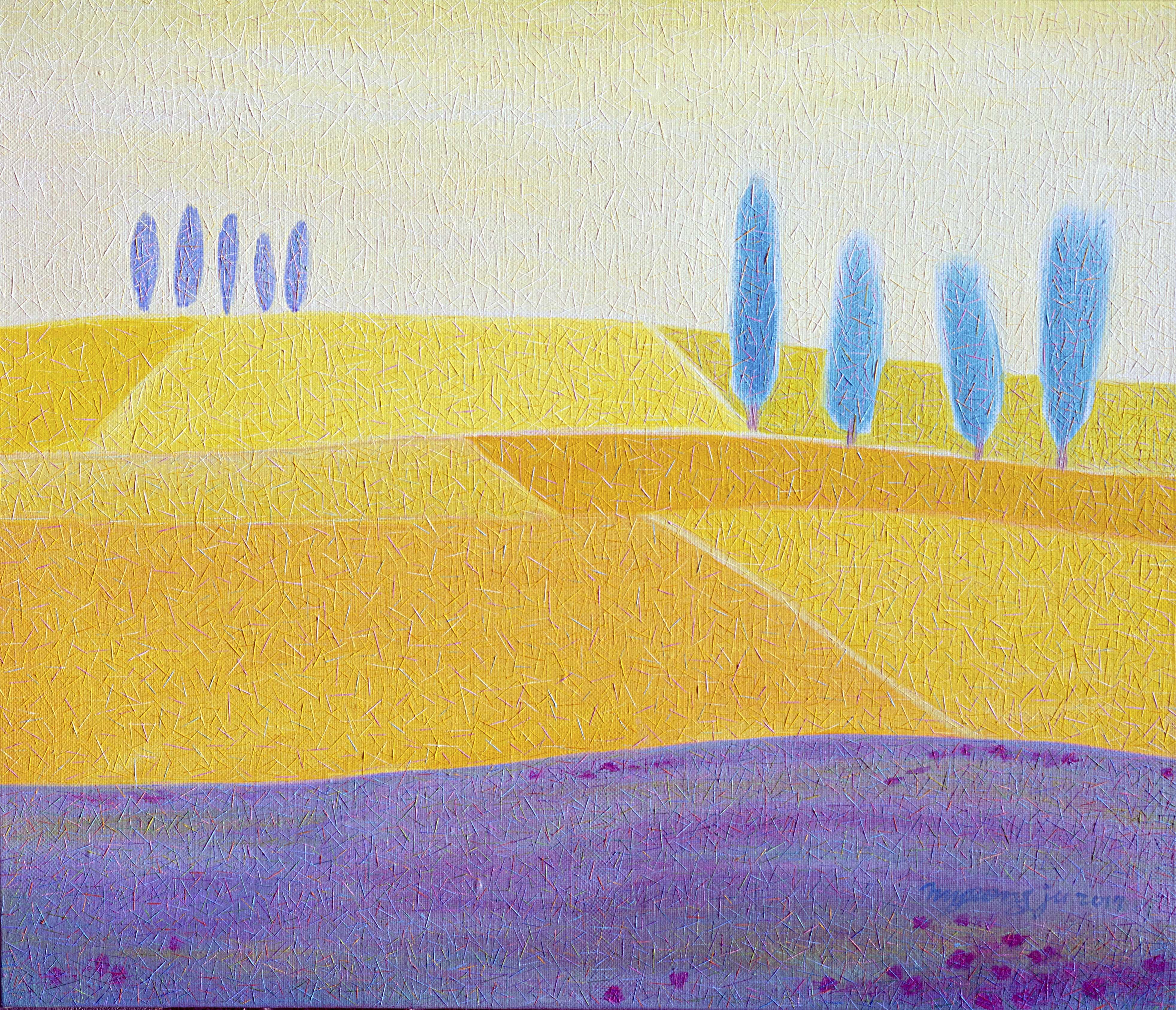 양귀비가 있는 밀밭 53×45.5.oil on canvas.고급개체