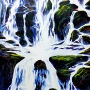 011, 자연-순환(폭포) 45.5cmx60cm canvas on acr
