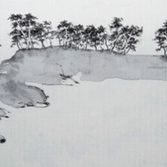 14번 2015,돌섬,Muk on HanJi,100x50cm.jpg