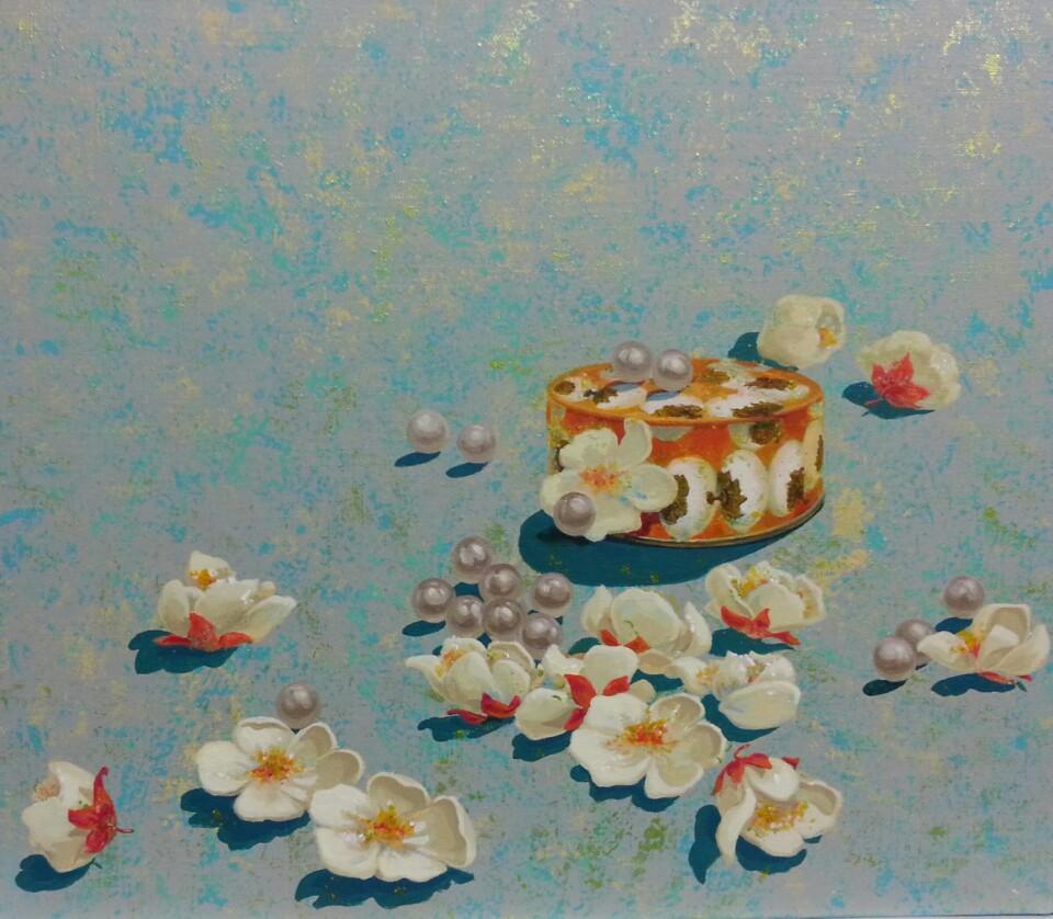 맑은 그녀, 53x45.5cm, Acrylic on canvas, 2016