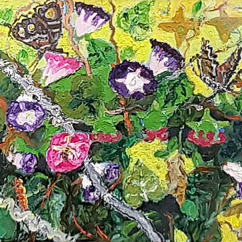 025, 민해정수, 나팔소리, 45.5 x 37.9 cm, 캔버스에 유화