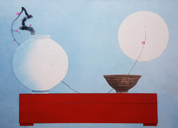 025, 오관진, 비움과 채움(복을담다), 79 x 109 cm, 한지에