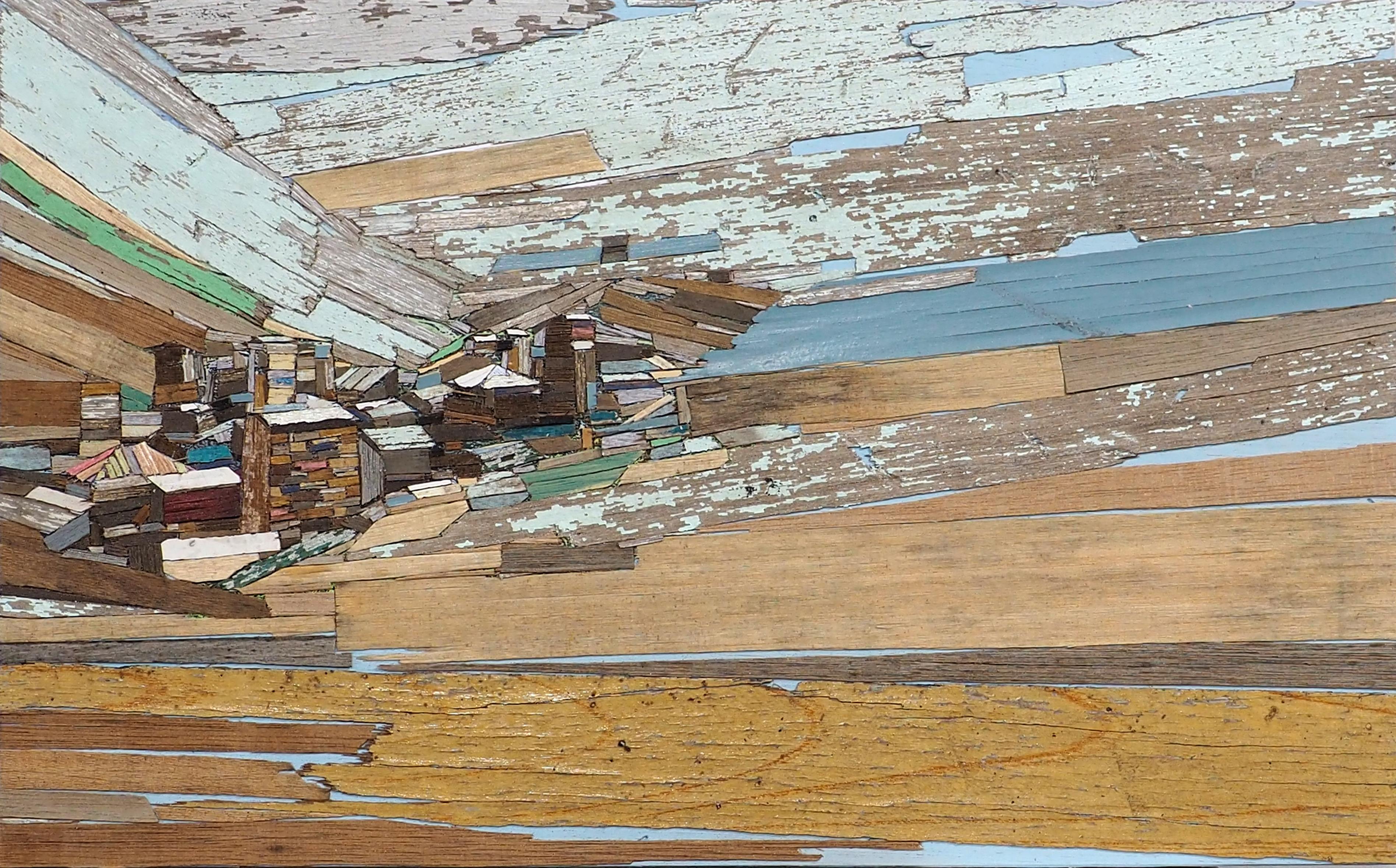 이부강 3 trace landscape-그루지아, 33X53cm, mix