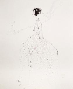 1. 베갯송사, 99x122cm, 한지위에 채색 & 콜라주, 2018