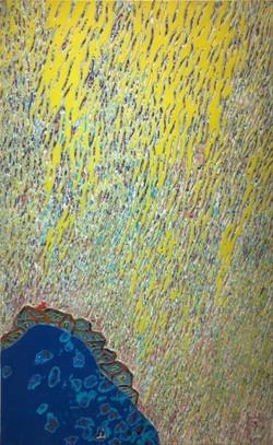 008, 김재신, 동피랑이야기, 61 x 98 cm (30호), 나무판