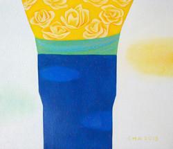 차명주, 노란 장미, 53.0 × 45