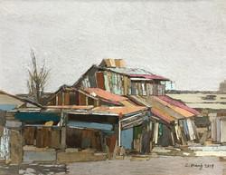 이부강3, moved landscape(정미소), 52 x 40 cm,