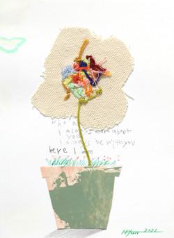 003, 김현영, 오직 하나, 18 x 14 cm, 혼합재료, 2021,