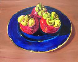 019, 세 개의 망고스틴, 30 x 24 cm, oil on canva