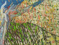 풍경, 33.5x24.5cm, 혼합재료, 2016