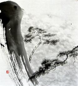 송승호 001 일출을 맞이하다 46x41.5cm 화선지에 수묵 2017