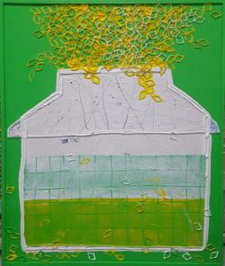 005, 김형길, 머문곳에-봄'18   63 x 75 cm, 캔버스 위에
