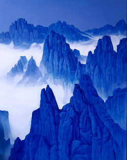 조광기청산사유(1275봉1) 162cmx130cm canvas on acrylic2018 (2000만)
