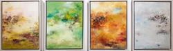 004, 권영범, 어떤여행 (사계), 각 41 x 31 cm (4점), Oil on canvas, 2021, 800만원