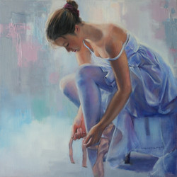 장윤영1, 무희, 50 x 50 cm, Oil on Canvas, 201