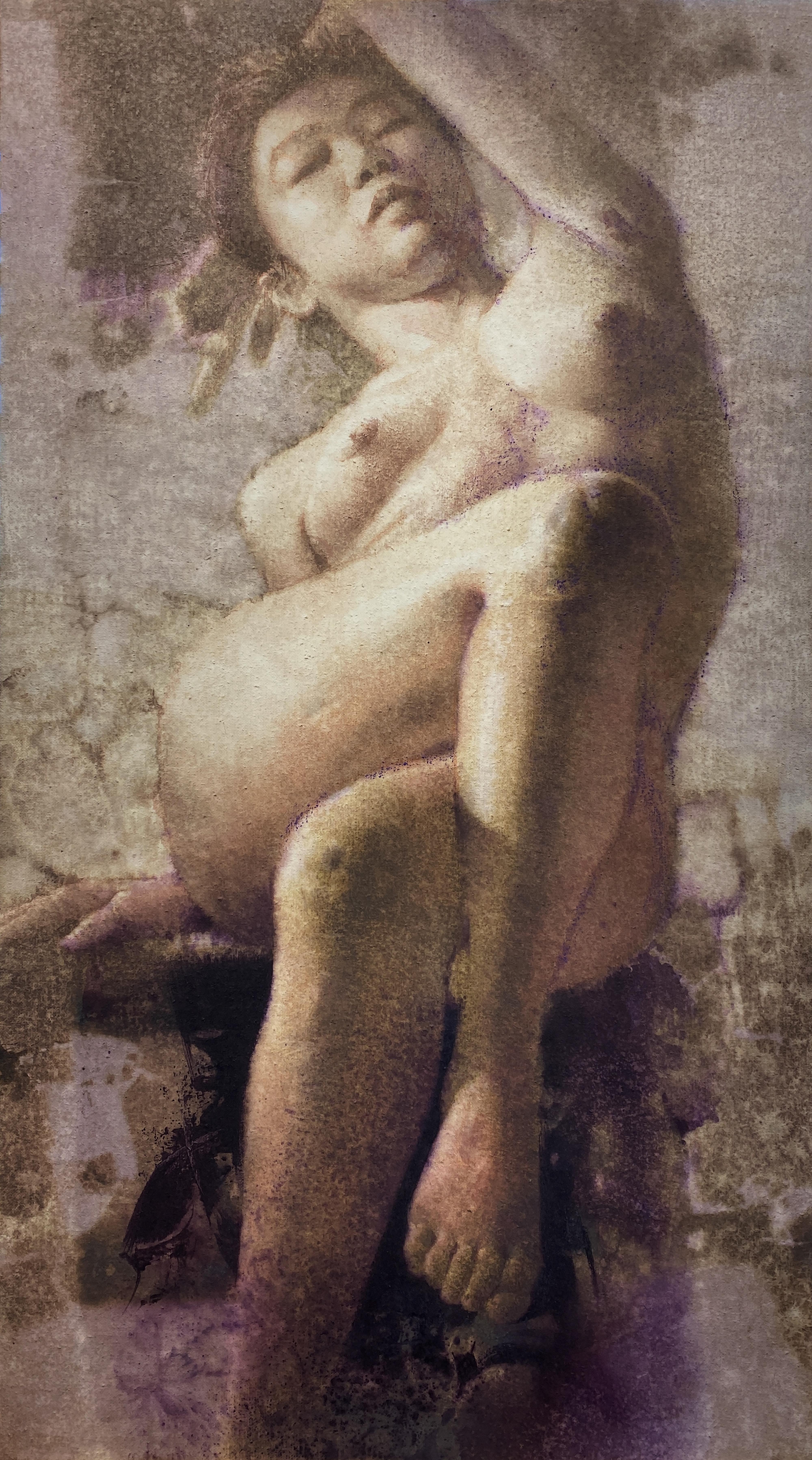 021, 김종원, Dream, 90 x 50 cm, watercolor