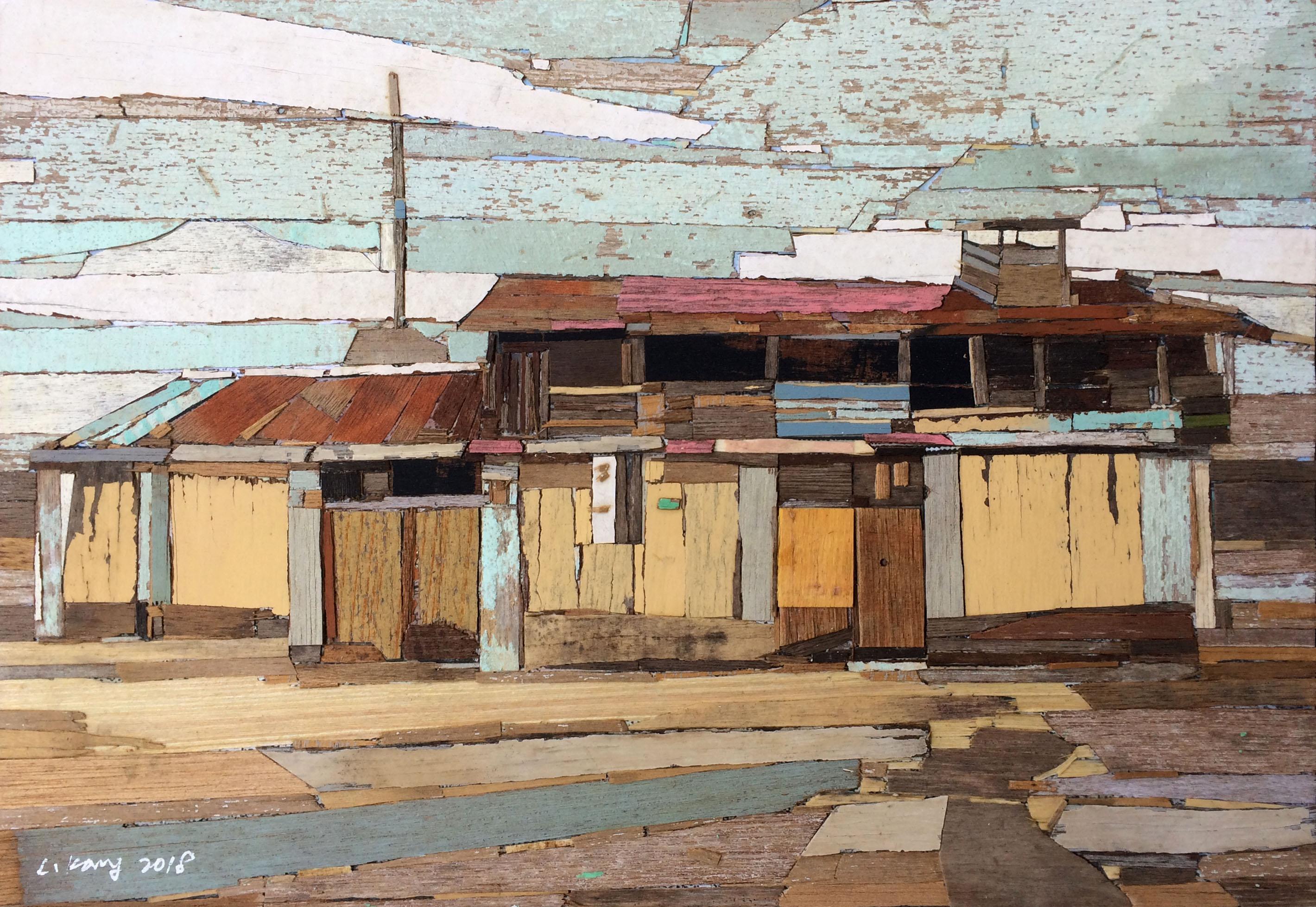 이부강 4-2 trace landscape 1, 28X41cm, mixe