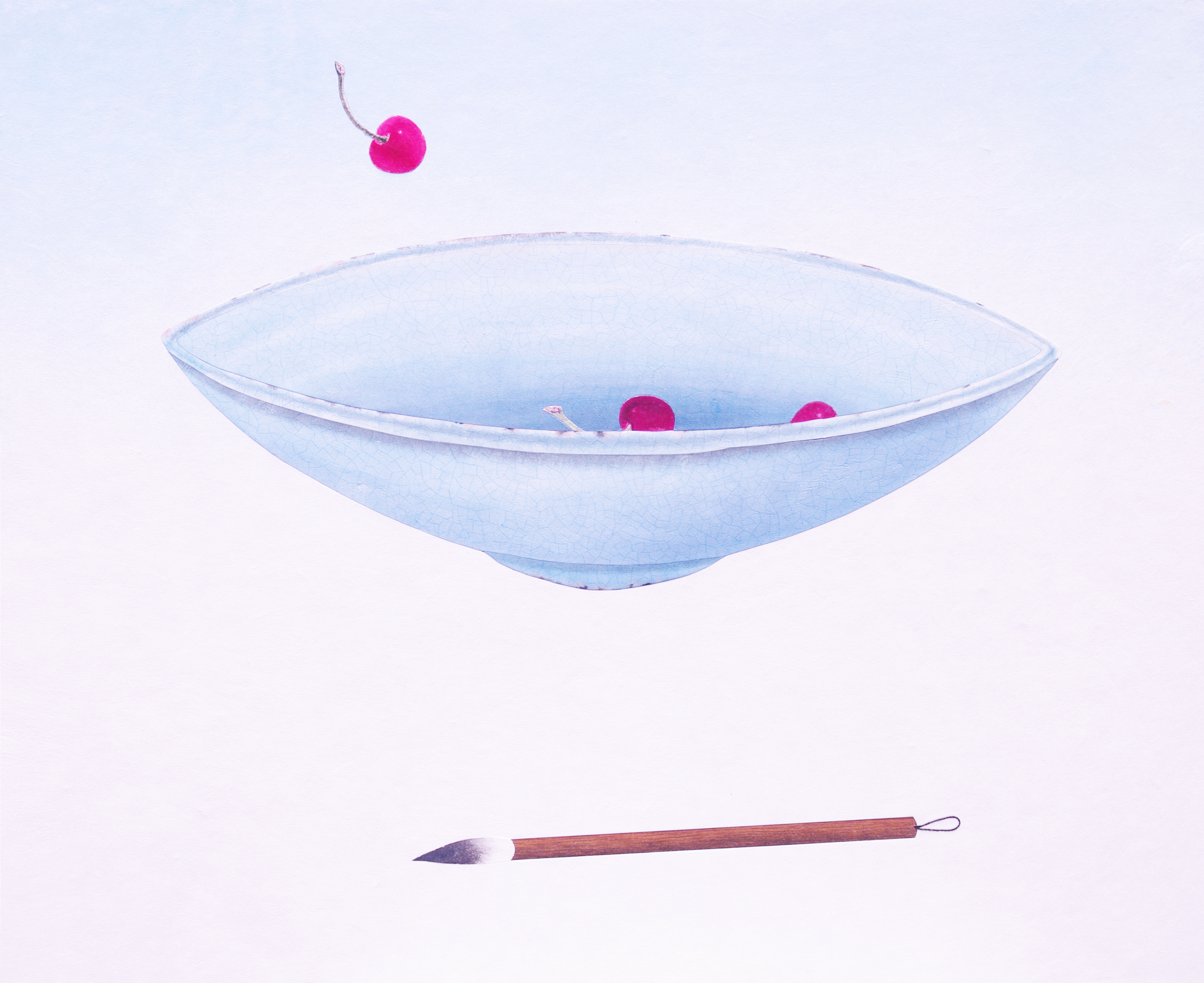 012, 비움과 채움(복을담다),65 x 53 cm, 한지에 혼합재료,
