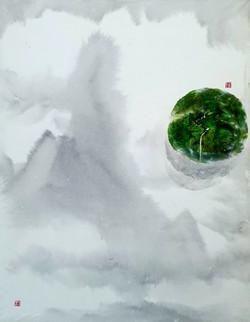 003, 김성호, 내가 사는 별1, 41 x 53 cm, 화선지에 수묵채
