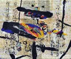 one's home town 1708 62x74cm 2017 korean paper mixed media