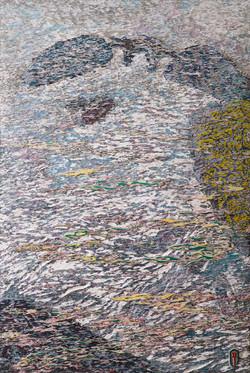 020, 김재신, 통영풍경, 146 x 97 cm(80호), 나무판 위에