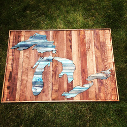 Great Lakes Wall Piece