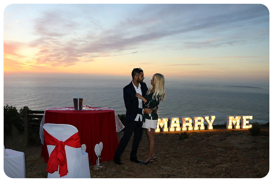 Marry Me letters Cape Town
