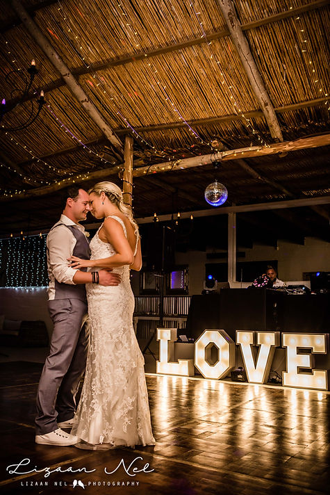 Marquee letters weddings Cape Town