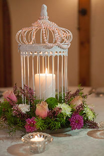 Vintage birdcage for wedding decor