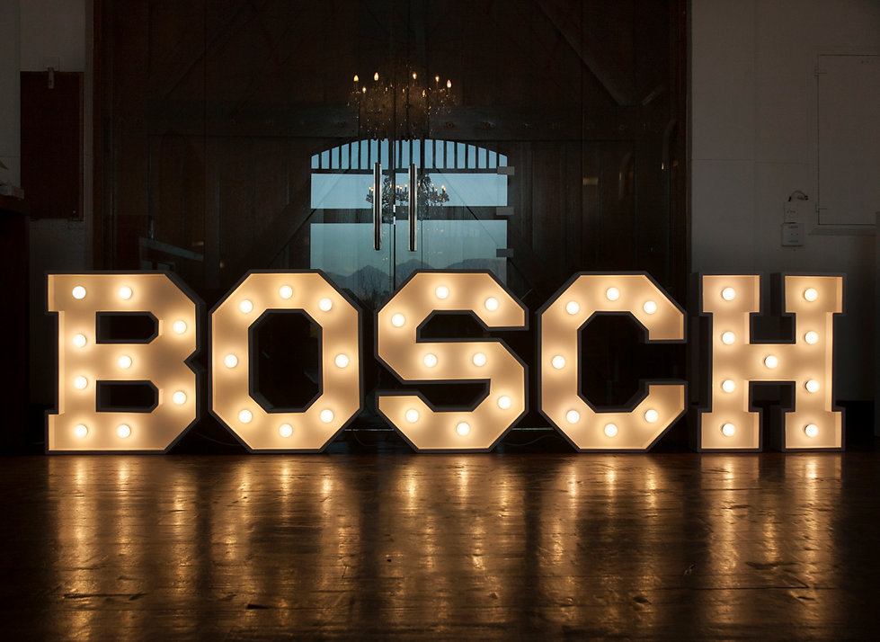 Marquee letter lights Cape Town