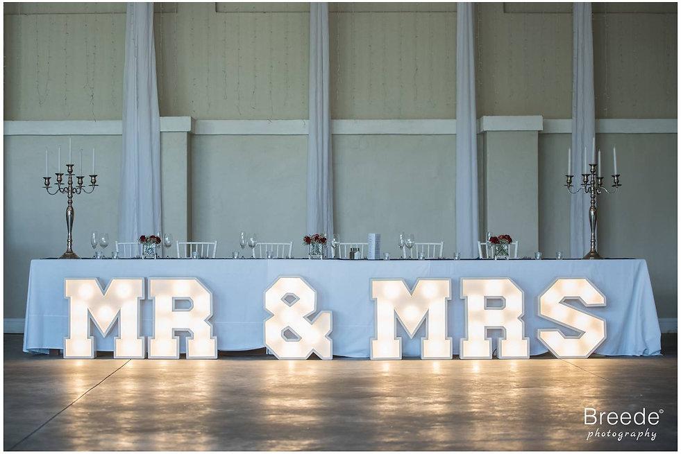 Mr & Mrs lights Cape Town