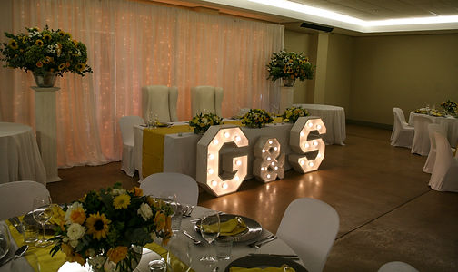 Big letters for wedding decor Cape Town