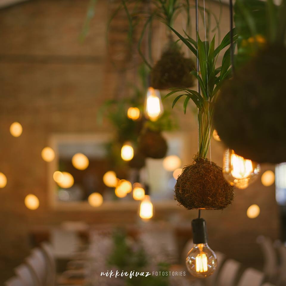 Edison globes weddings Cape Town