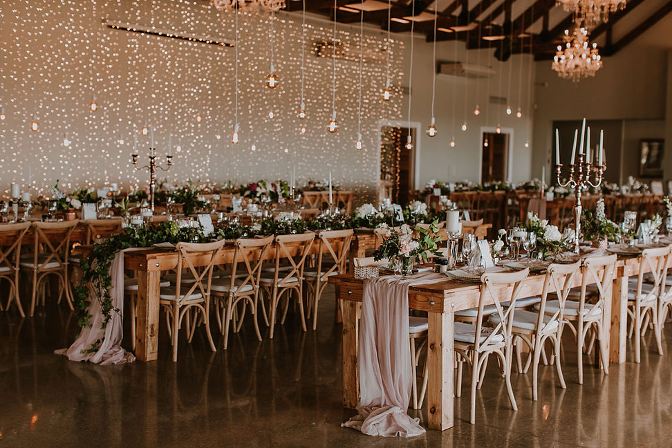 Hanging naked bulbs weddings Cape Town