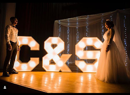Light letters wedding Cape Town