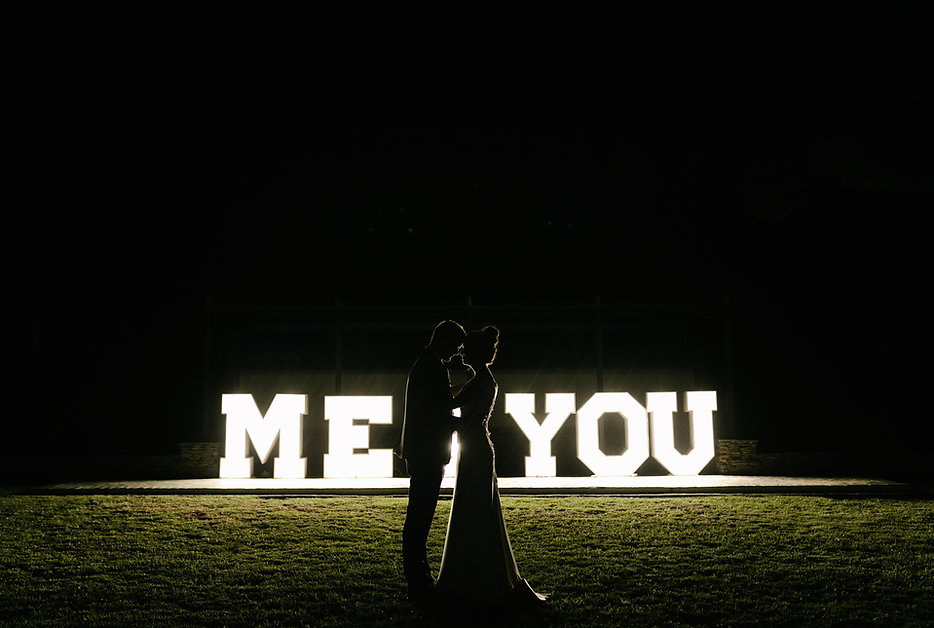 Marquee letter lights hire Cape Town
