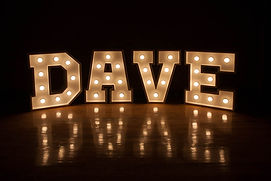 Marquee Wedding Signs
