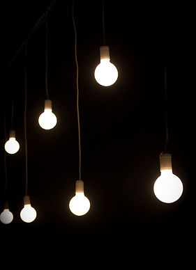 Naked hanging bulbs to hire in Cape Town