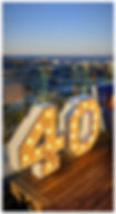 40 light letters Cape Town