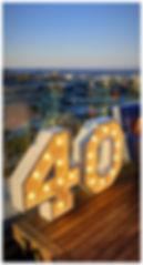 40 light letters Cape Town
