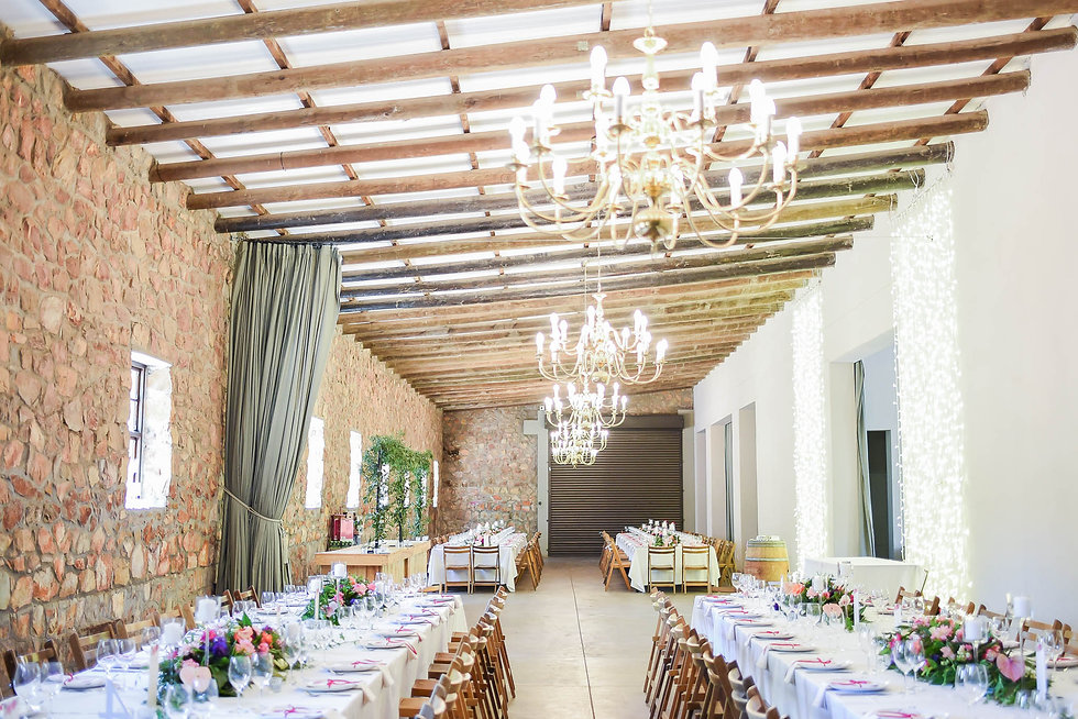 Elandskloof wedding decor