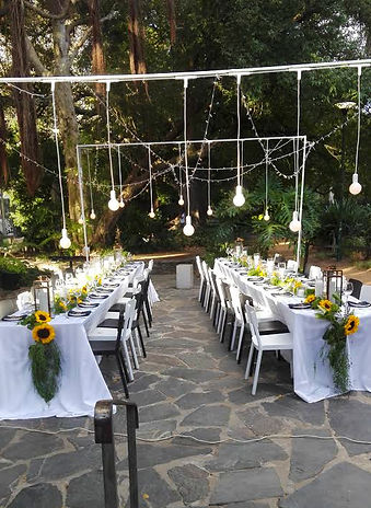 Hanging globes weddings Cape Town